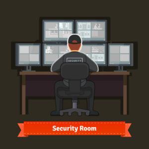 Raumüberwachung Sicherheitsdienst